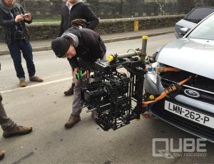 QUBE camera head on a Ford Mondeo