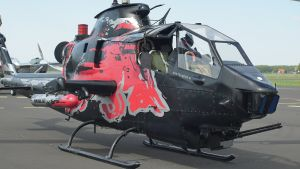 RUN fX mounted on Red Bull Cobra Helicopter