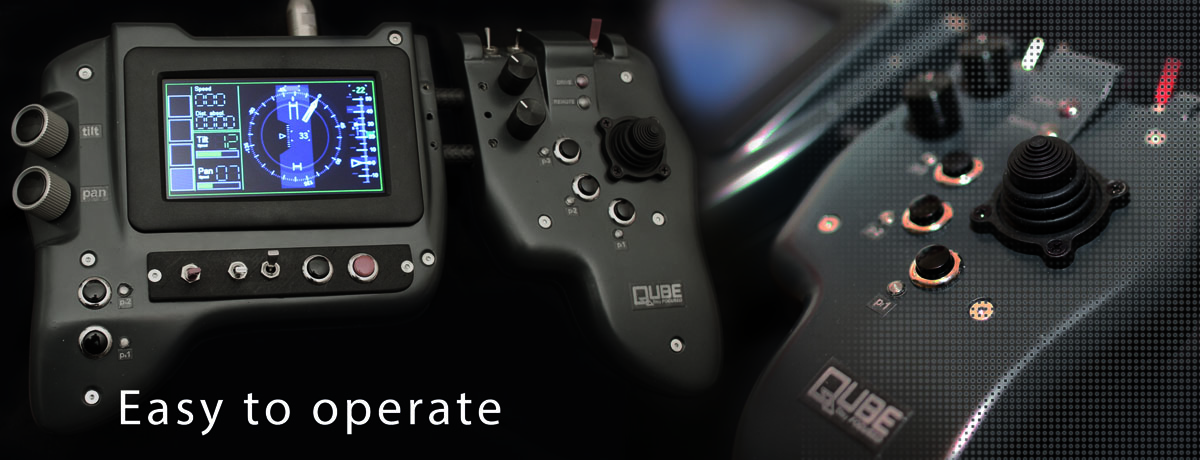 QUBE remote control is easy to operate